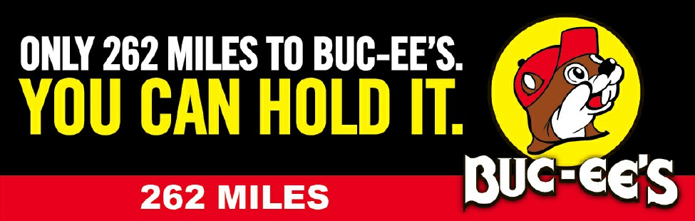 Image result for buc ee's road signs